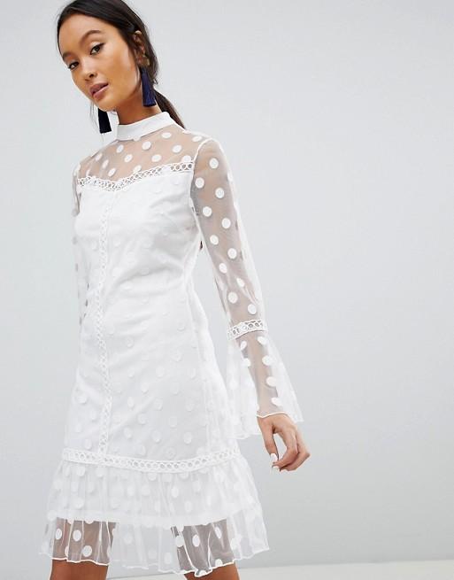 parisian-polka-dot-mesh-shift-dress